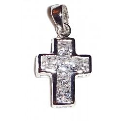 Kreuz mit gefassten eckigen...